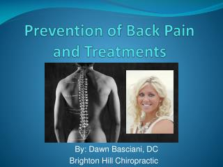 Prevention of Back  Pain and Treatments