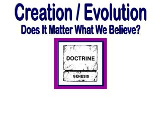 Creation / Evolution