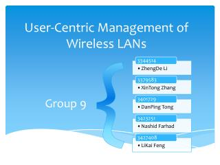 User-Centric Management of Wireless LANs