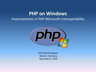 PHP on Windows Improvements in PHP-Microsoft Interoperability
