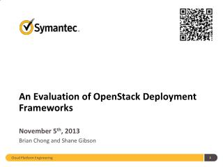 An Evaluation of  OpenStack  Deployment Frameworks