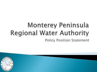 Monterey Peninsula Regional Water Authority