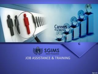 JOB ASSISTANCE & TRAINING