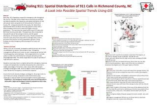 Dialing 911: Spatial Distribution of 911 Calls in Richmond County, NC A Look into Possible Spatial Trends Using GIS