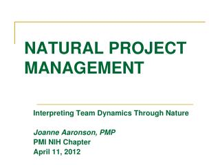 NATURAL PROJECT  MANAGEMENT
