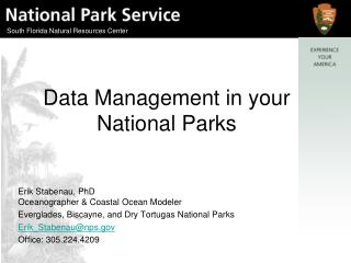 Data Management in your National Parks