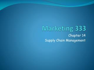 Marketing 333