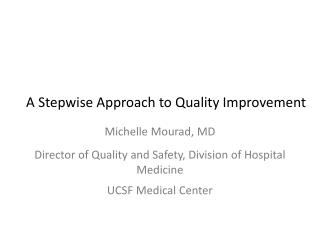 A Stepwise Approach to Quality Improvement
