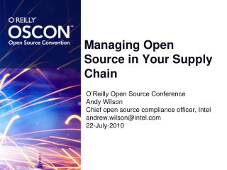 Managing Open Source in Your Supply Chain