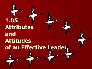 1.05 Attributes  and  Attitudes of an Effective Leader
