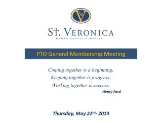 PTO General Membership Meeting