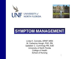 Linda K. Connelly, ARNP, MSN  M. Catherine Hough, PhD, RN Updated: C. Cummings RN, EdD University of North Florida Colle