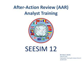 After-Action Review (AAR) Analyst Training