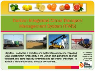 Durban Integrated Citrus Transport Management System (ITMS)