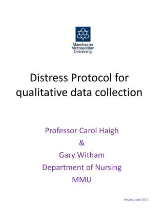 Distress Protocol for qualitative data collection