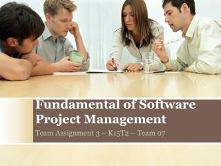 Fundamental of Software Project  Management