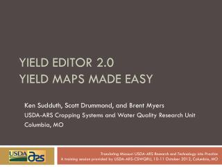 Yield Editor 2.0 yield maps made easy