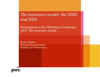 The insurance model: the NDIS and NIIS