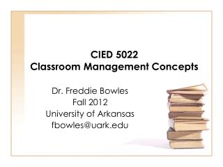 CIED 5022  Classroom Management Concepts