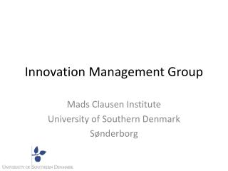 Innovation Management  Group