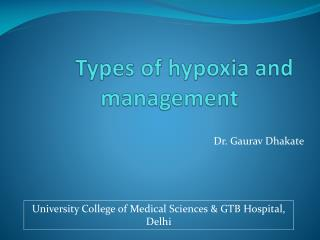 Types of hypoxia and management