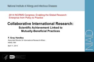 Collaborative International Research: Scientific Achievement Linked to  Mutually-Beneficial Practices