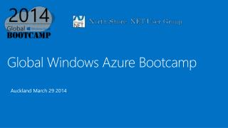 Global Windows Azure  Bootcamp