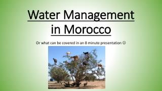 Water Management in Morocco