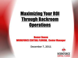 Maximizing Your ROI Through Backroom Operations