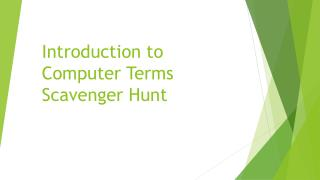 Introduction to Computer Terms Scavenger Hunt