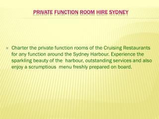 private function room hire sydney
