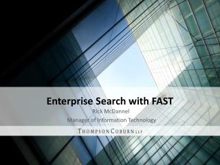 Enterprise Search with FAST