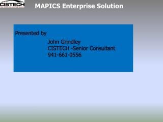 MAPICS Enterprise Solution