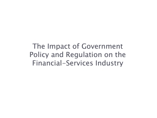 market regulation and reforms