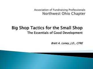 Association of Fundraising Professionals  Northwest  Ohio Chapter