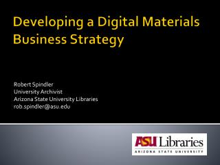 Developing a Digital Materials Business Strategy