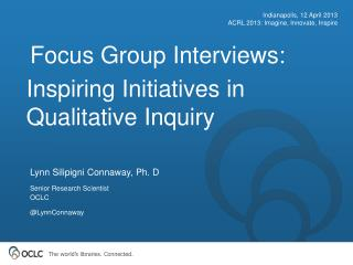 Inspiring Initiatives in Qualitative Inquiry