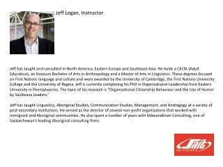 Jeff Logan, Instructor