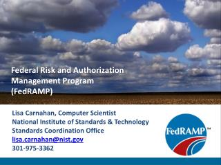 Federal Risk and Authorization Management Program (FedRAMP)