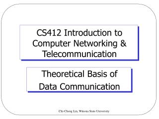 channel capacity in data communication pdf