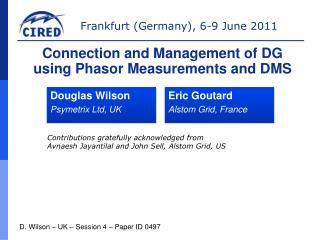 Douglas Wilson Psymetrix Ltd, UK