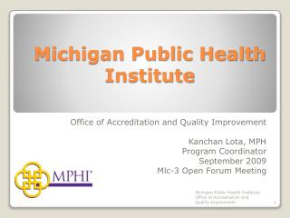 Michigan Public Health Institute