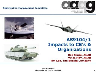 AS9104/1  Impacts to CB's & Organizations