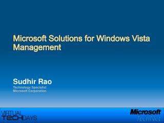 Microsoft Solutions for Windows Vista Management