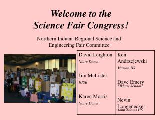 Welcome to the Science Fair Congress!