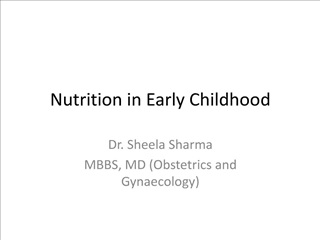 nutrition in early childhood