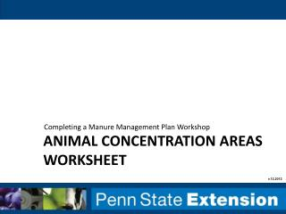 Animal concentration areas worksheet
