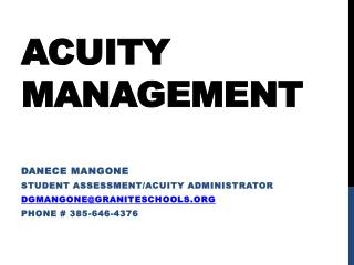 ACUITY management