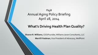 n4a Annual Aging Policy Briefing April 28, 2014