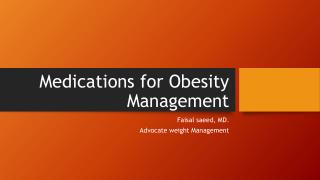 Medications for Obesity Management
